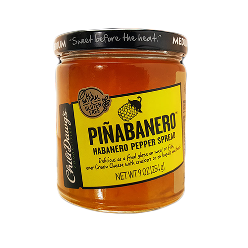 Pinabanero 9oz | Pineapple and Habanero Pepper Spread | Sweet & Spicy | Chili Dawg's Foods of Fire