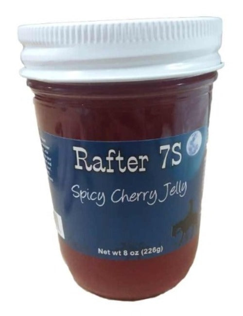 Spicy Cherry Jelly 8oz | Deliciously Sweet & Spicy | All Natural, No Preservatives Added | Rafter 7S
