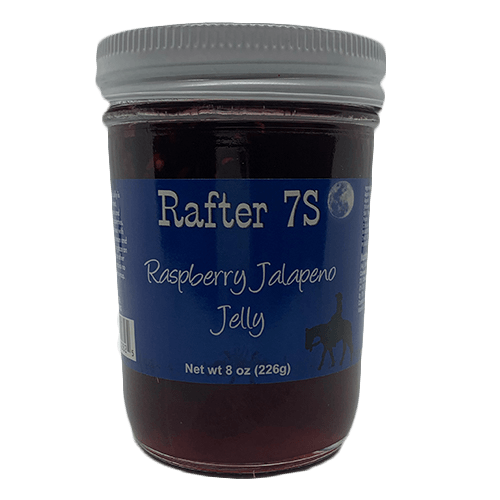 Raspberry Jalapeno Jelly 8oz | Sweet & Spicy | Rafter 7S