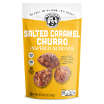 Pear's Gourmet Salted Caramel Churro Inspired Almonds | 4.5 oz. Bag | Shipping Included Options | FREE Shipping on 6 Pack