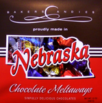 Nebraka Themed Chocolate Box | Best Chocolates For Gifts Or For Yourself | Baker's Candies Meltaways