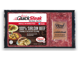 100% Sirloin Beef Steak 7 Pack | Thin Sliced Quality Sirloin | Easy & Quick to Cook | FREE Shipping