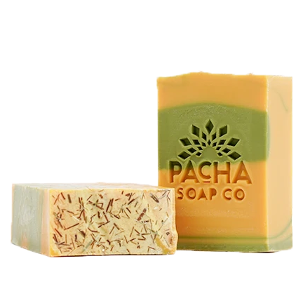 Spearmint Lemongrass Natural Bar Soap | Refreshing Scent