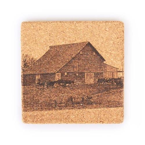Engraved Cork Coasters | Animal Coasters | Nebraska - Let The Stories Begin