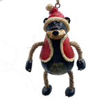 Bear With Santa Coat and Hat Ornament | Shipping Included