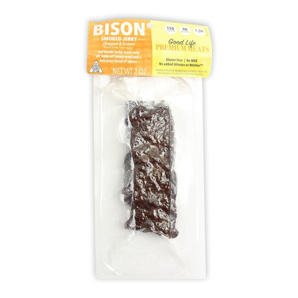 Bison Smoked Jerky - 1 Package, Tender Jerky, Bison Protein, Gluten Free, Healthy Snack