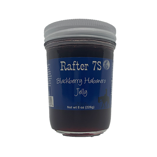 Blackberry Habanero Jelly 8oz | Sweet & Spicy | Rafter 7S