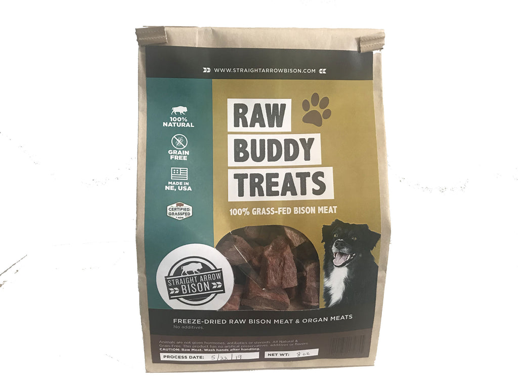 Buddy Treats | Freeze-Dried Raw Bison Bits | Ideal Treats for Dogs or Cats