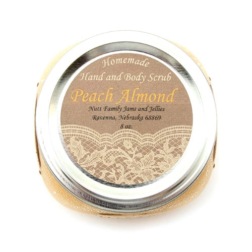 Peach Almond Hand & Body Scrub 8 oz By Nutt Family Jams & Jellies