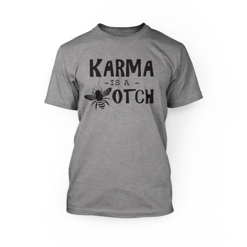 "24 Hour Tees ""Karma is a Bee-Otch"" T-Shirt"