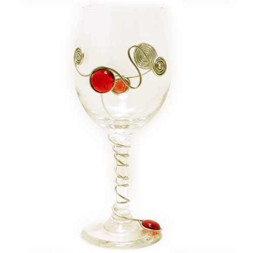 Embellished Wine Glass | Decorative Wine Glass | Choose Your Color | Jewelry by Andrea