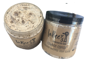 Cowboy Coffee | Whipped Sugar Scrub | Fluffy Coffee Feel | LaRee's Handcrafted Soaps