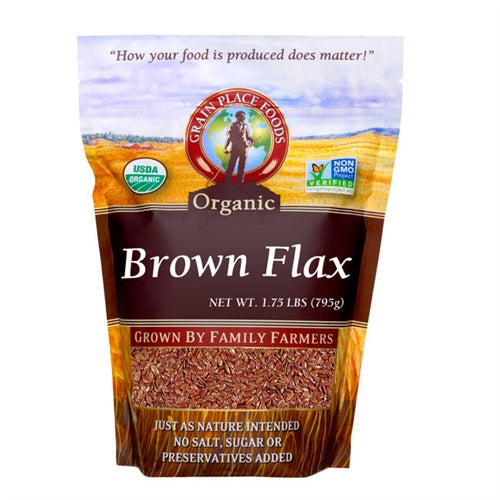 Grain Place Foods Non-GMO Organic Brown Flaxseed 28oz Bag