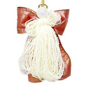 Heirloom Treasures Bow Angel Ornament Assorted Red