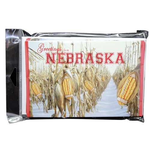 CornCoctions Nebraska Set of 10 Blank Greeting Cards with Envelopes