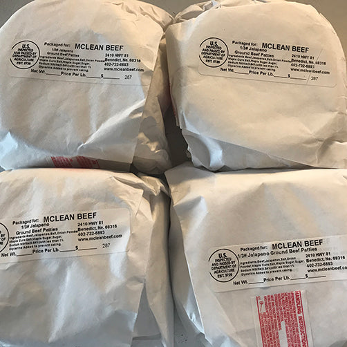 Jalapeno Ground Beef 10 lbs. | Nebraska Corn Fed Beef | FREE Shipping | McLean Beef