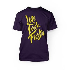 "24 Hour Tees ""Live, Work, Fiesta"" T-Shirt"