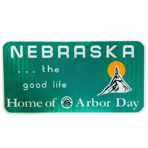 Nebraska The Good Life Replica Sign | Authentic Sign Material | Great Indoor Or Outdoors