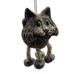Grey Cat Ornament | Shipping Included