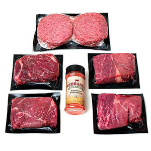 Honest Value Beef Package | Angus Top Sirloins & Ground Beef Patties | Hormone & Antibiotic Free