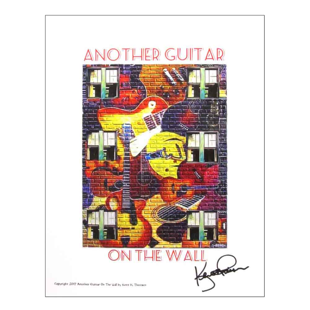 Another Guitar On The Wall | Fine Art Print by Kent Theesen