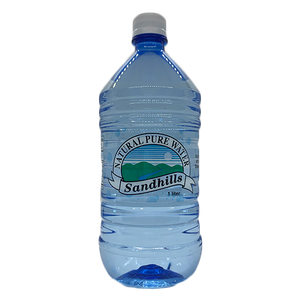 Pure Natural Bottled Water | 1 Liter Bottle | Sourced out of the Ogallala Aquifer | Sandhills Natural Water