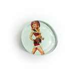 Pin Up Girl | Glass Magnets | Create