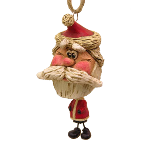 Rough Beard Santa Ornament - Bert Anderson Collection
