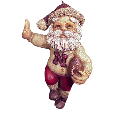 Running Husker Santa Ornament | Shipping Included