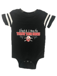 Throw Them Bones Onesie | Cornhusker Fan Baby Onesie