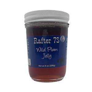 Wild Plum Jelly 8oz | Real Nebraska Fruit | Rafter 7S