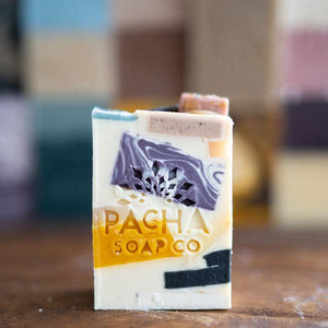 Pachafetti All Natural Bar Soap | Handcrafted No Waste Blend | Lemongrass & Peppermint | Pacha Soap