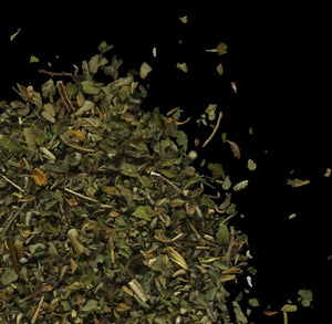 Signature Smokes: herbal loose-leaf smoking blend with damiana, mullein leaf, marshmallow leaf, and nervines
