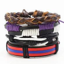 Load image into Gallery viewer, Fashion Handmade Multilayer Woven Leather Men Bracelets