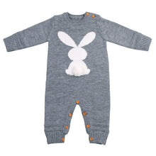 Load image into Gallery viewer, Cute Knitted Rabbit Baby Boy Girl Long Sleeve Rompers Jumpsuit