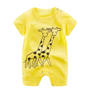 Newborn Infant Baby Cute Cartoon Printed Jumpsuit