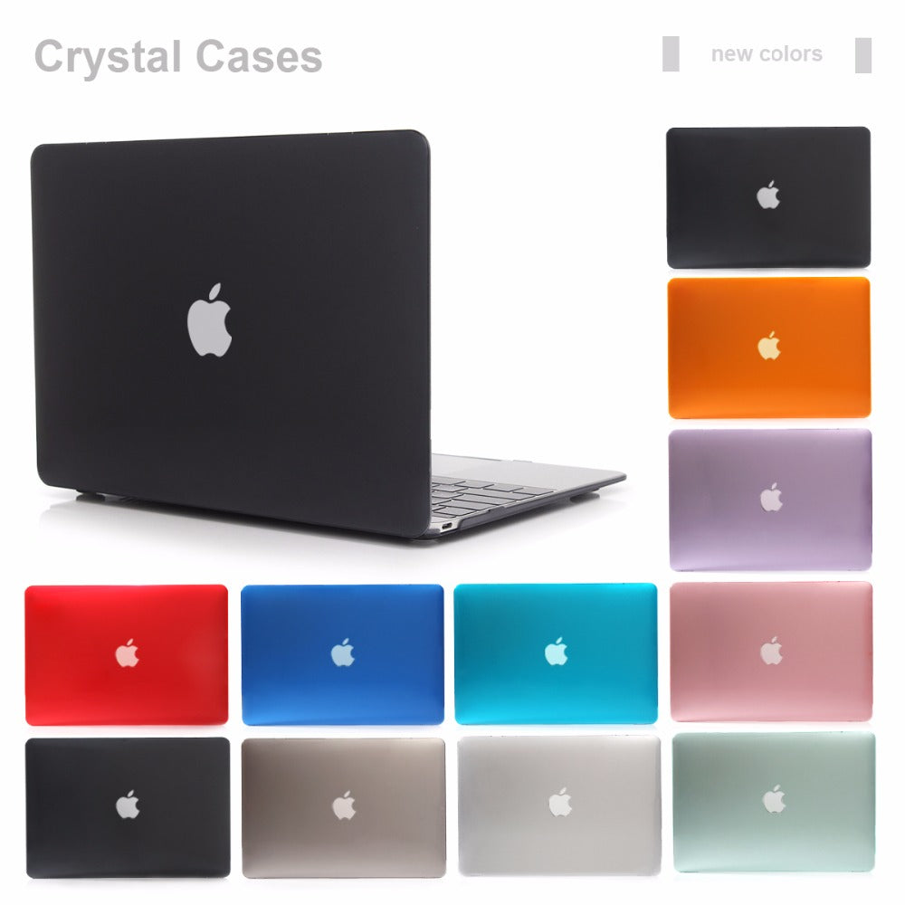 NEW Clear Transparent Crystal Case For Apple Macbook Air Pro Retina 11 12 13 15