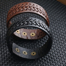 Load image into Gallery viewer, Wide leather bracelet