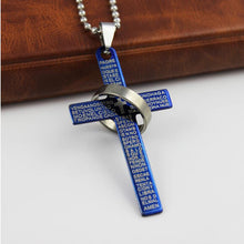 Load image into Gallery viewer, Fashion Stainless Steel Christian Bible Prayer Cross