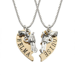 Fashion Heart Gun Steampunk Necklaces