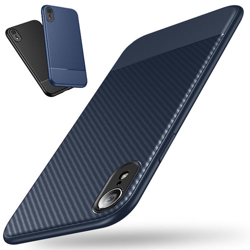 Carbon Fiber Soft Shockproof Case for iPhone XR/XS Max
