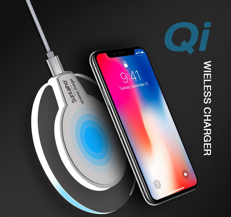 Fashion Wireless Charger for iPhone X, XS, XS Max, XR, Samsung Galaxy S9 S8 Plus