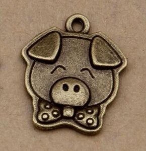 Mini Pig Jewelry Finding Crafts Charm Accessories