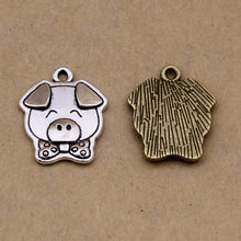 Load image into Gallery viewer, Mini Pig Jewelry Finding Crafts Charm Accessories