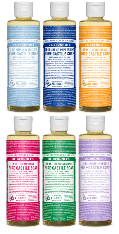 A Mixed Six - Pure-Castile Liquid Soap - a-mixed-six-pack