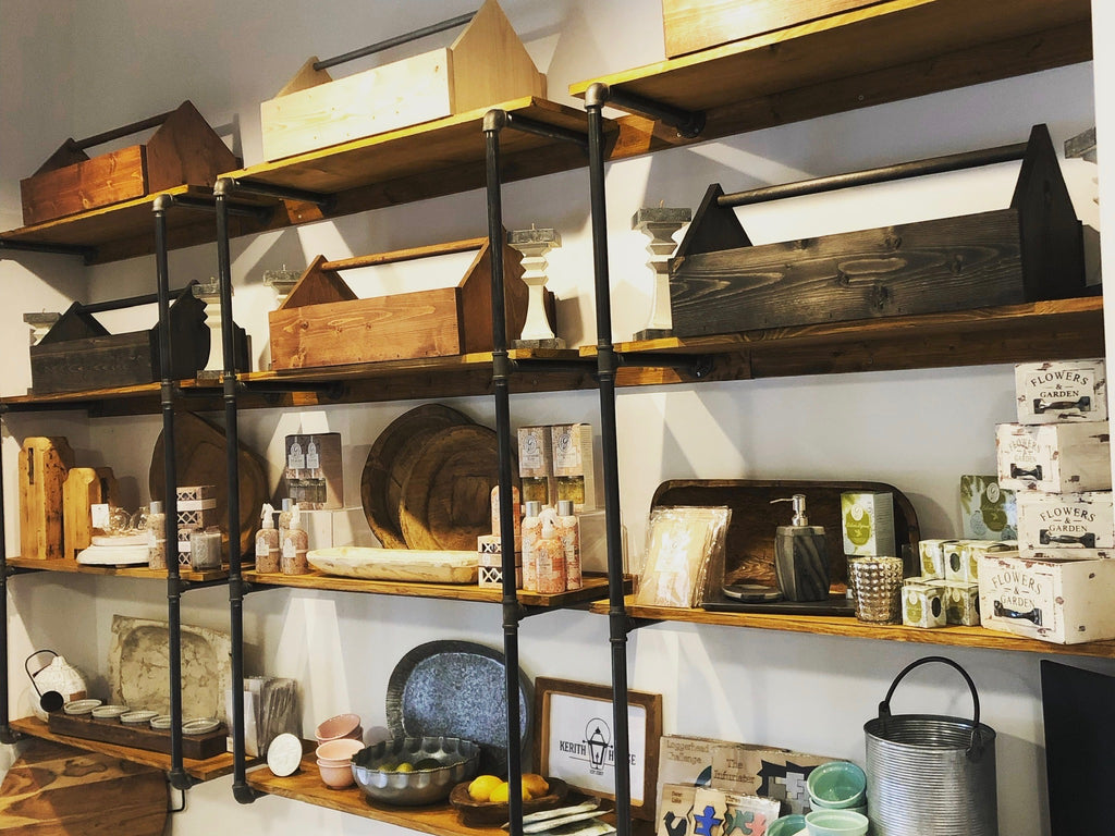 Industrial Chic Pipe Shelving
