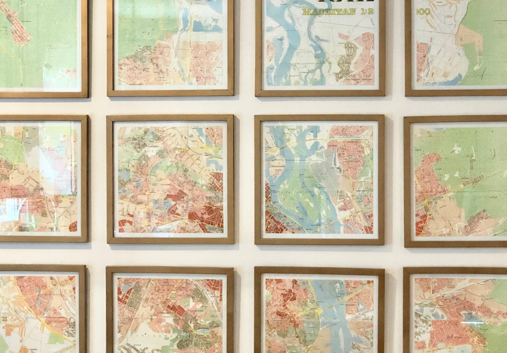Make Maps Into Art