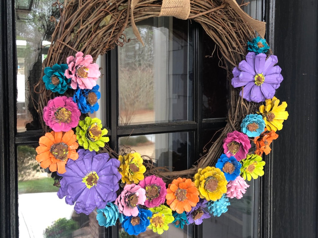 A Spring Wreath From Pinecones?