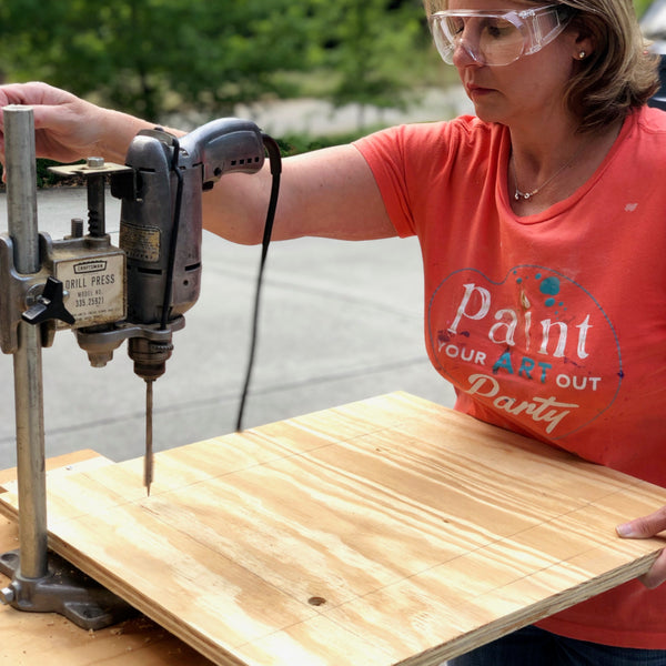 Scrap wood picture frame