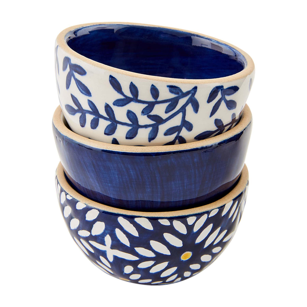 Mud Pie Blue Indigo Mini Dip Bowls